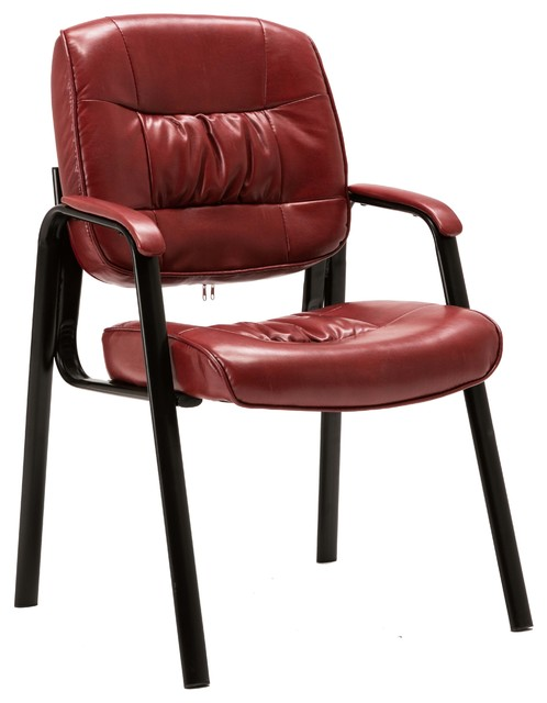 Cool Keith Leather Reception Chair Maroon Andrewgaddart Wooden Chair Designs For Living Room Andrewgaddartcom