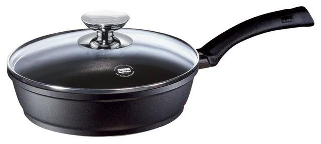Signocast Saute Pan W Glass Lid In Black, 9.5 In. Dia.