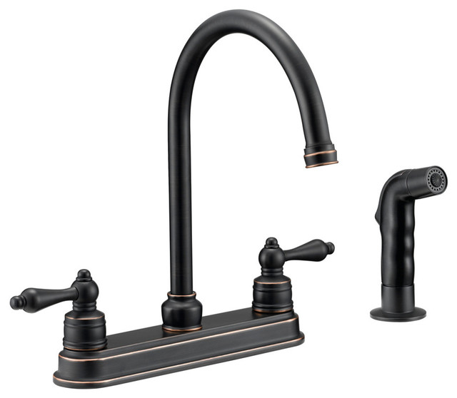 Designers Impressions 658847 Oil Rubbed Bronze Kitchen Faucet With Sprayer