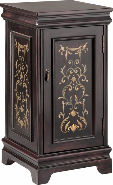 Harper One Door Wine Cabinet - Traditional - Wine And Bar Cabinets - by HedgeApple