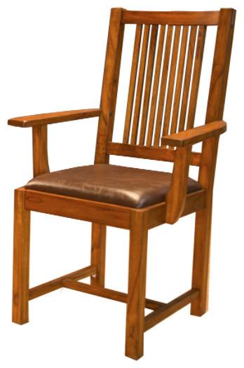 A-America Mission Hill Slatback Arm Chair, Set of 2