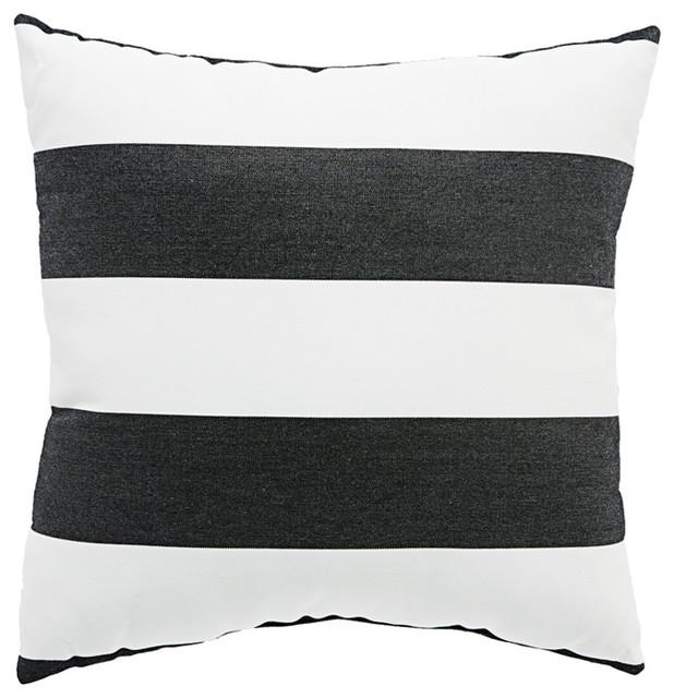 Jaipur Living Cabana Black White Stripe Indoor Outdoor Throw Pillow