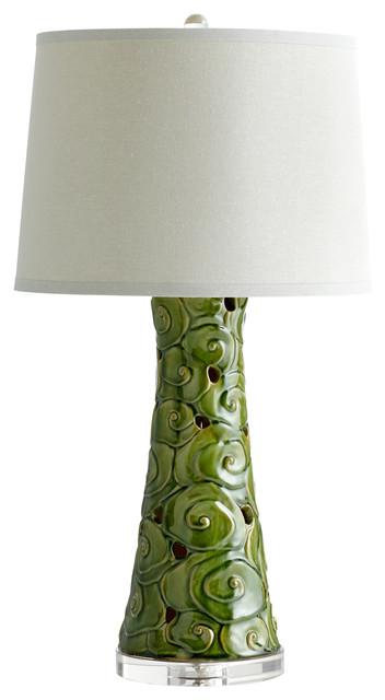 Cyan Design Eva Table Lamp, Emerald Glaze.