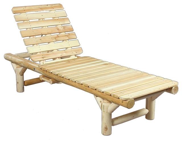 Rustic natural cedar cedar log chaise lounge view in for Cedar chaise lounge