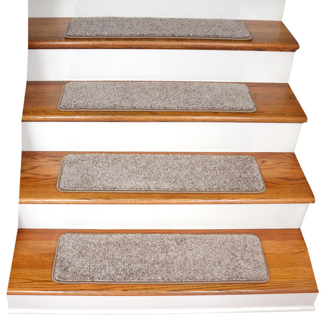 Tape Free Non Slip Carpet Stair Treads Set Of 15 Beige