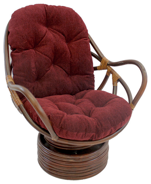 Rattan Swivel Rocker with Cushion - Rocking Chairs - by International ...