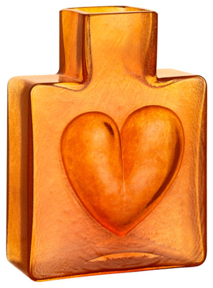 Because Vase Orange Heart Contemporary Vases By Orrefors Kosta Boda