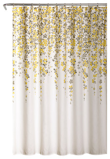 yellow and teal shower curtain. Lush Decor  Weeping Flower Shower Curtain Yellow Gray 72 x72 View in Your Room Houzz