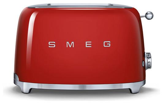 Smeg 50&x27;s Retro Style Two Slice Toaster, Red.