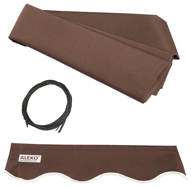 Aleko Awning Fabric Replacement, Brown, 10&x27;x8&x27;.