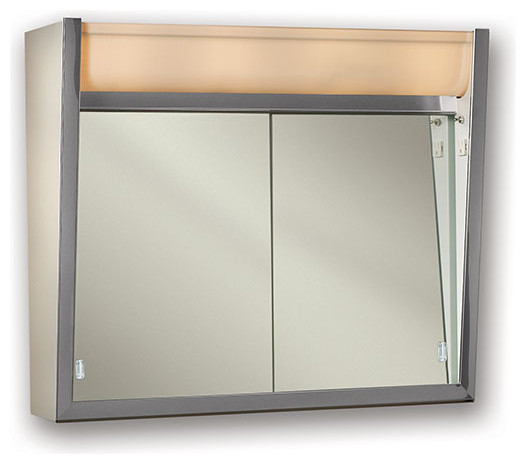 "Ensign 24""x23 1/2"" Surface Mount Lighted Medicine Cabinet."