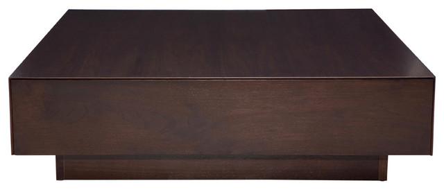 Dumas Coffee Table, Dark Walnut Modern Coffee Tables