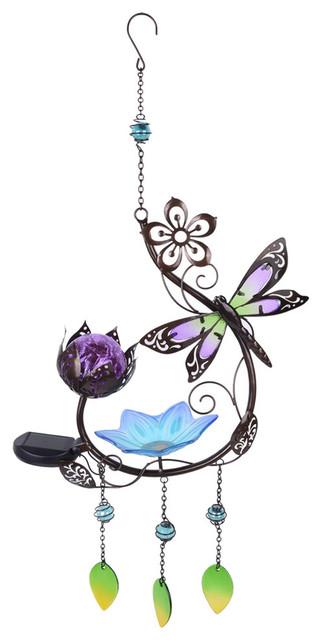 Solar Butterfly hanging Birdfeeder
