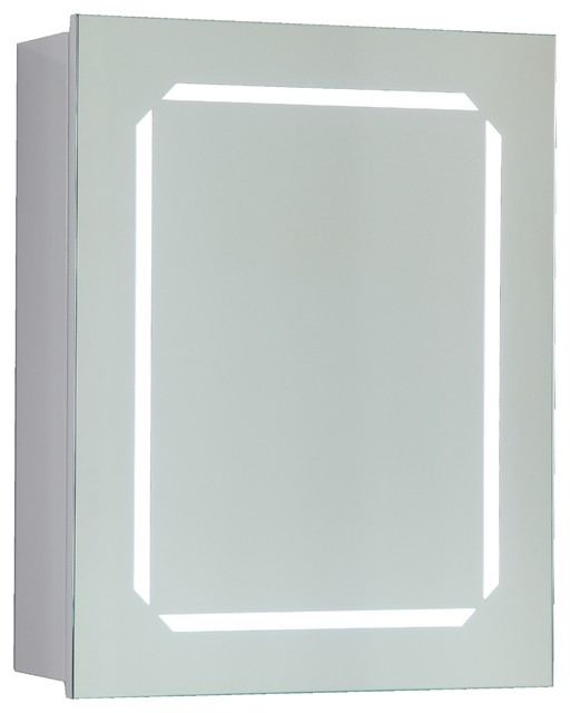 Lighted Vanity Mirror Cabinet : Vanity Art Led Lighted Bathroom Mirror With Wooden Cabinet And Rock Switch - Modern - Medicine ...