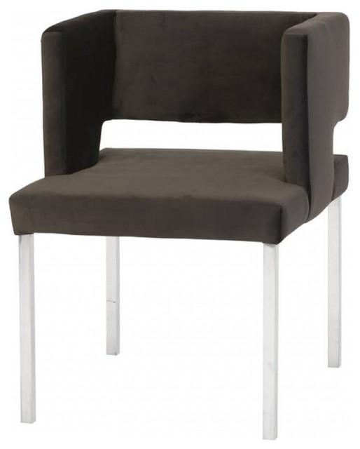 Phenomenal 31 Tall Rafa Dining Chair Black Velvet Stainless Steel Framework Short Links Chair Design For Home Short Linksinfo