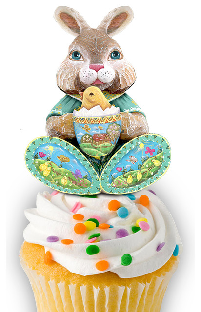 Easter Bunny Cup Cupcake And Cake Toppers.