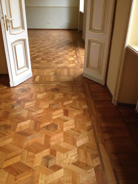 Pavimento in parquet in appartamento d 39 epoca for Spessore parquet