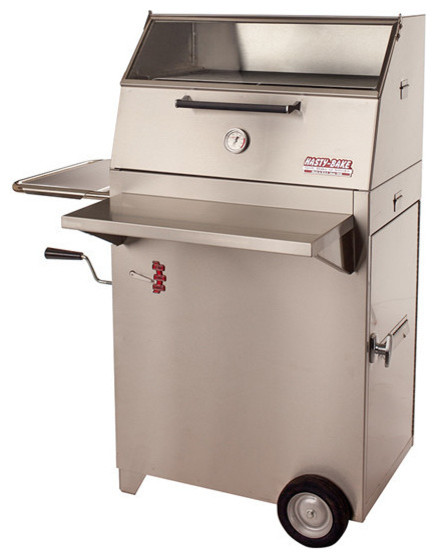 Hasty-Bake Continental 84 Stainless Steel Charcoal Grill.