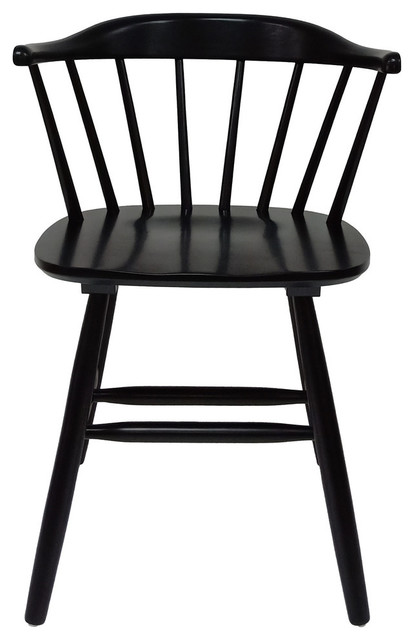 Swell Mia Farmhouse Spindle Back Rubberwood Dining Chairs Set Of 2 Black Evergreenethics Interior Chair Design Evergreenethicsorg