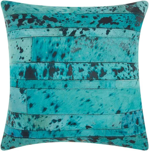 Washing Decorative Bed Pillows : Shop Houzz Nourison Nourison Acid Wash Turquoise Pillow 20