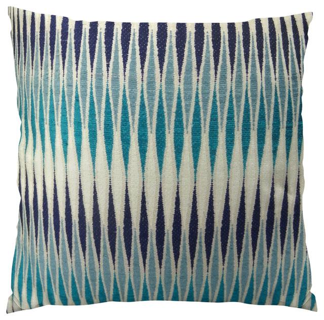Plutus Thames River Cobalt HandmadeThrow Pillow, Double Sided, 12x20