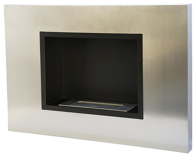 Shop Houzz Utopia Alley Wide 30 Wall Mount Ethanol Fireplace Stainless Steel Outdoor