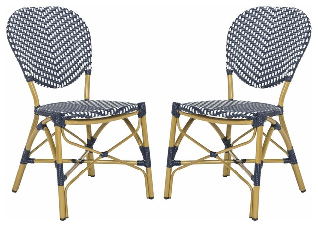 Safavieh Lisbeth French Bistro Stacking Side Chair Pat4010a-Set2, Set Of 2.