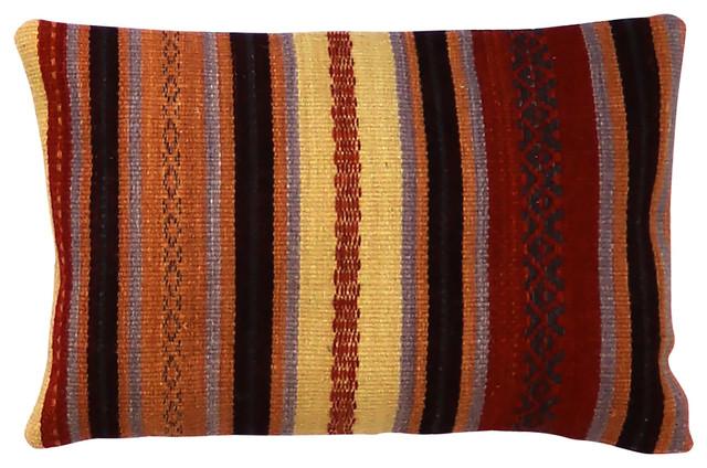 Multicoloured Kilim Udaïpur Scatter Cushion, 60x40 cm