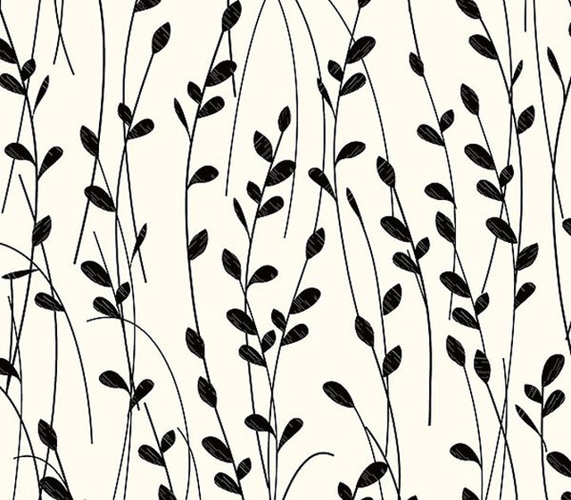 Shop Houzz Warner Little Willow Black and White  : contemporary wallpaper from www.houzz.com size 640 x 560 jpeg 117kB