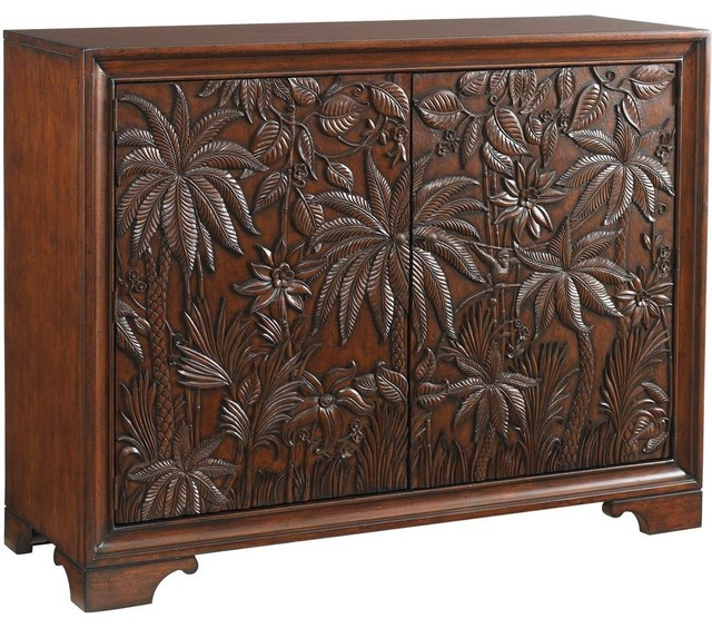 tropical kitchen cabinets bahama home landara balboa carved door chest 2949