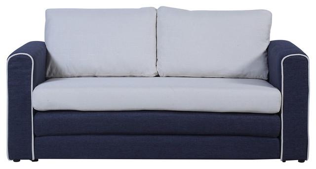 Modern Classic 2-Tone Sofa Sleeper Modular Convertible 2-Seater ...