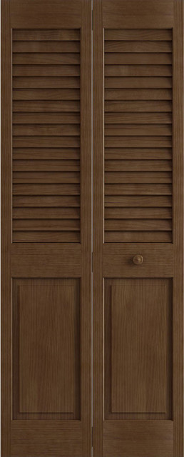 Plantation Louver Panel Bifold Unfinished 24 X80 X1 375 Transitional Interior Doors By International Door Company