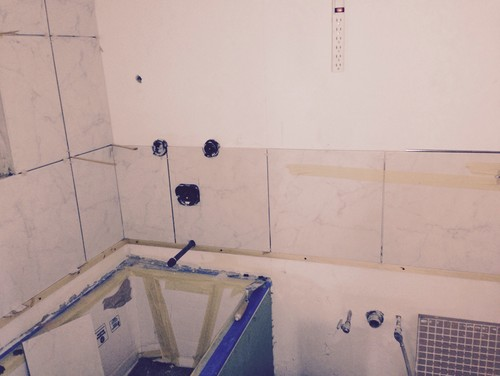 Does Having Bathroom Tile Along All Of The Walls In A Small Bathroom E - Putting a shower in a small bathroom