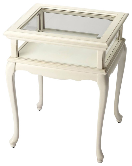 Exceptionnel Butler Traditional Curio Table, White Traditional Side Tables And End