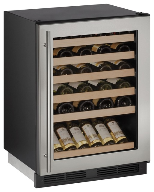 U-Line 24 Built-In Wine Storage With 48 Bottle Capacity And Led Lighting.