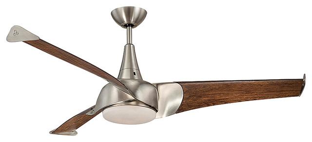 Savoy House Ariel 55 3 Blade Ceiling Fan, Satin Nickel.