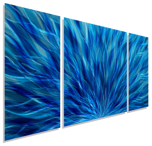 Cascading Waters Iii Metal Wall Art Accent By Jon Allen