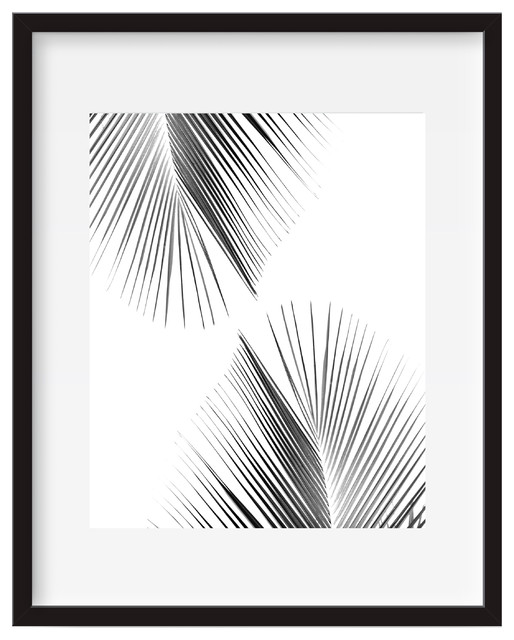 Wall Art Posters palm leaf, tropical wall art, poster print - tropical - prints and