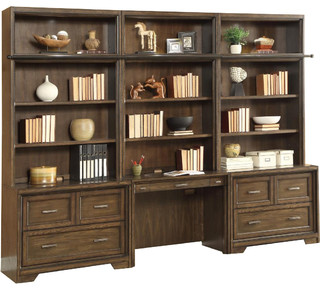 Parker House - Parker House Meridien 6-Piece Library Wall Desk With Lateral File & Reviews | Houzz