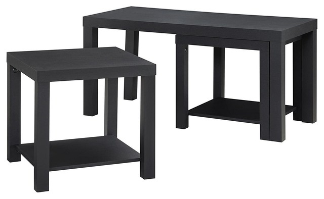 Holly Bay Coffee Table And End Table Set, Black.