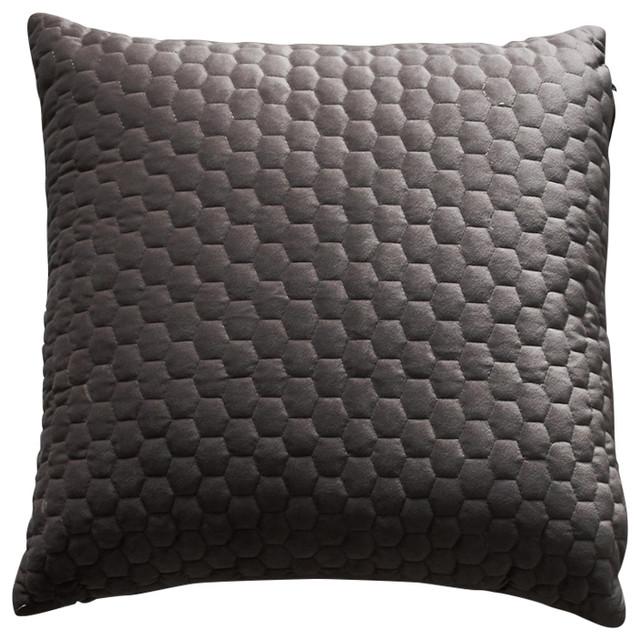 Beehive Velvet Cushion, Taupe
