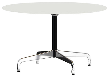 Eames Round Table By Herman Miller Segmented Base Contemporary Rh Houzz Com Uk