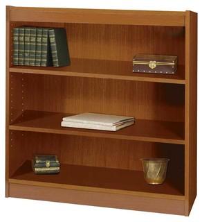 Square Edge Bookcase w 3 Shelves in Medium Oak Finish