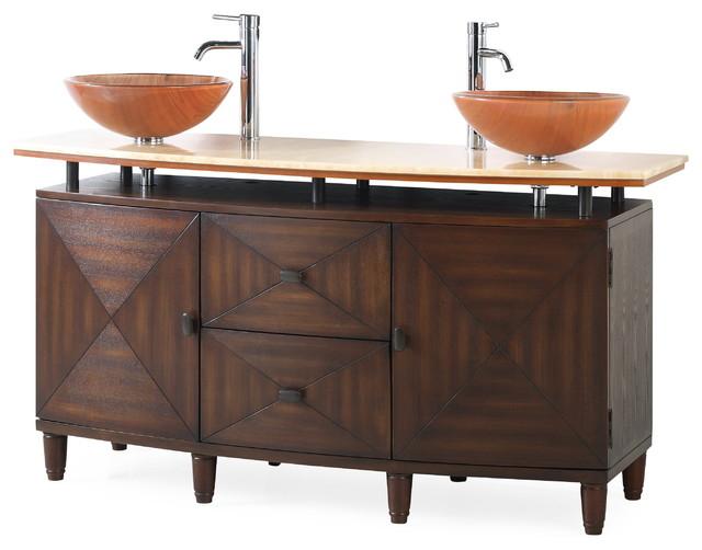 "63"" Verdana Double Vessel Sink Bath Vanity by Chans Furniture"