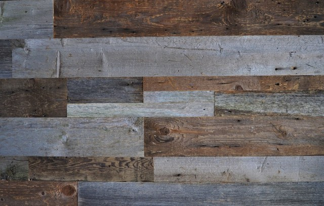 Reclaimed Wood Wall Covering DIY Barn Board Mixed Sizes, Grey Tones Only,  24 Squ - Reclaimed Wood Wall Covering DIY Barn Board Mixed Sizes - Rustic