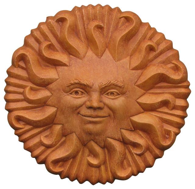 Smiling Sun Plaque Garden Statue