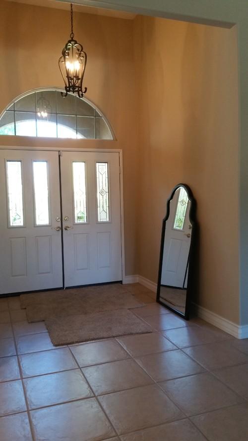 Double Door Entryway Design: Where To Place Mirror Behind Left Door?