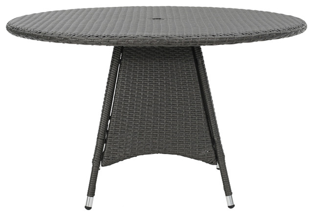 Shop Houzz GDFStudio Colonial Outdoor Wicker Round Dining Table