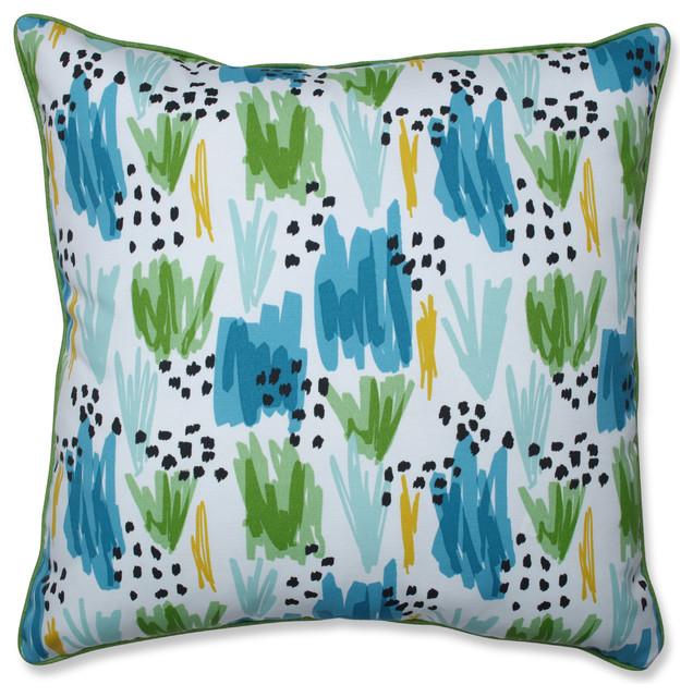 Outdoor/Indoor Flicker Seaglass 25-inch Floor Pillow