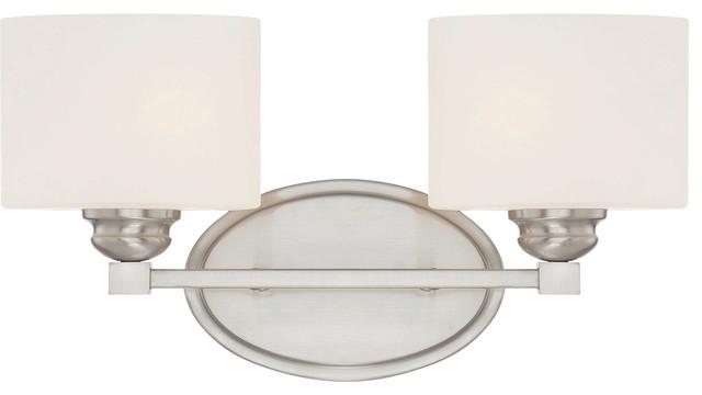 Savoy House 8-890-2-Sn Kane Satin Nickel 2 Light Vanity.